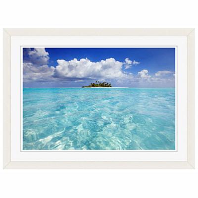 アートプリントジャパン 「South Male Atoll in the Maldives」 フレーム/S/ホワイト 1枚