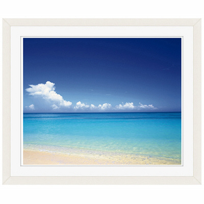 アートプリントジャパン 「青い海と空 沖縄」 フレーム/S/ホワイト 1枚