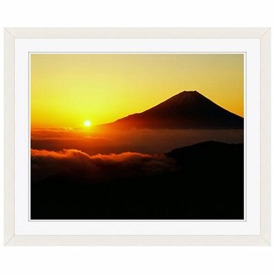 アートプリントジャパン 「丸山林道より望む富士山 日の出」 フレーム/S/ホワイト 1枚