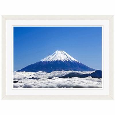 アートプリントジャパン 「富士山と雲海」 フレーム/S/ホワイト 1枚
