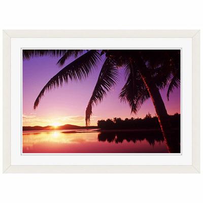 アートプリントジャパン 「Sunset in the Cook islands.」 フレーム/S/ホワイト 1枚