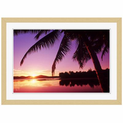アートプリントジャパン 「Sunset in the Cook islands.」 フレーム/S/木目 1枚