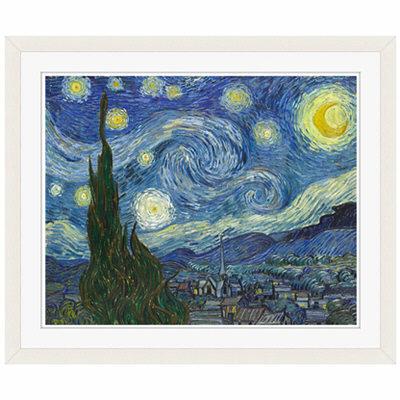 アートプリントジャパン 「The Starry Night by Vincent van Gogh」 フレーム/S/ホワイト 1枚