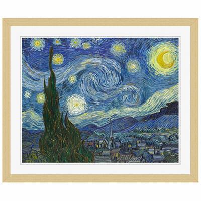 アートプリントジャパン 「The Starry Night by Vincent van Gogh」 フレーム/S/木目 1枚