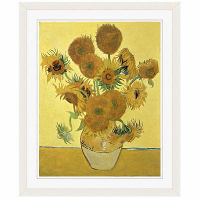 アートプリントジャパン 「Sunflowers」 フレーム/S/ホワイト 1枚