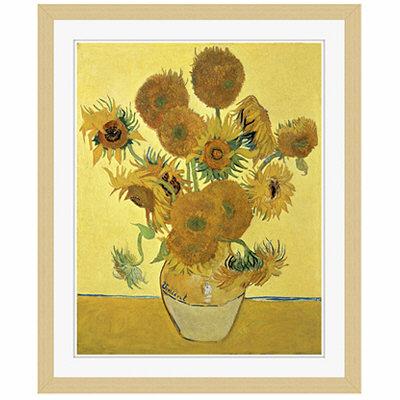 アートプリントジャパン 「Sunflowers」 フレーム/S/木目 1枚