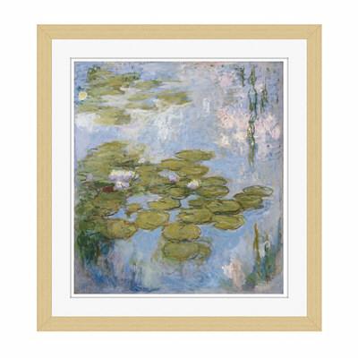 アートプリントジャパン 「Nympheas by Claude Monet」 フレーム/S/木目 1枚