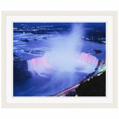 アートプリントジャパン 「ホースシュー滝の夜景」 フレーム/S/ホワイト 1枚