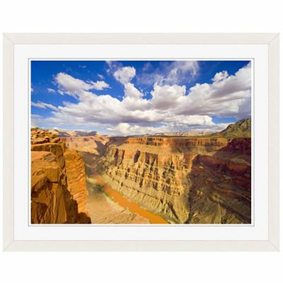 アートプリントジャパン 「Grand Canyon and Colorado River」 フレーム/S/ホワイト 1枚