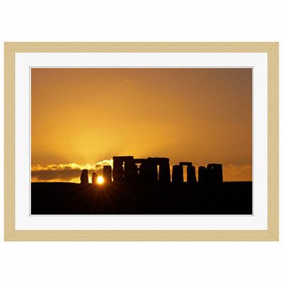 アートプリントジャパン 「Stonehenge at Sunset」 フレーム/S/木目 1枚