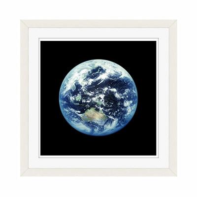 アートプリントジャパン 「人工衛星から見た地球イメージ」 フレーム/S/ホワイト 1枚