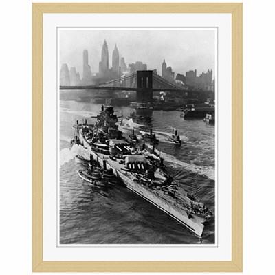 アートプリントジャパン 「ニューヨーク(1943年5月27日)」 フレーム/S/木目 1枚