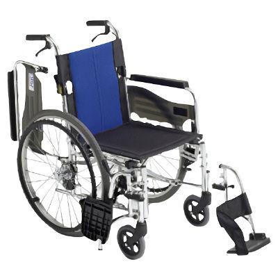 ミキ 車いす ウイング(400MM)スイングアウト 本体 BAL-3 自走用 背折れ式 アルミ製 介助ブレーキ付き (直送品)