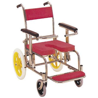 カワムラサイクル シャワー・入浴用車椅子 (ステンレスセイ) レッド KS2 (直送品)