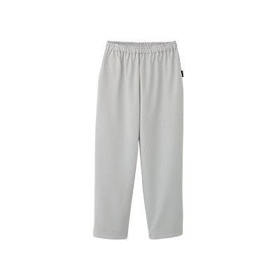 フォーク 検診衣パンツ (検査着 患者衣) 男女兼用 グレー S 6004SK (直送品)