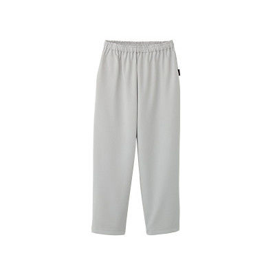 フォーク 検診衣パンツ (検査着 患者衣) 男女兼用 グレー L 6004SK (直送品)