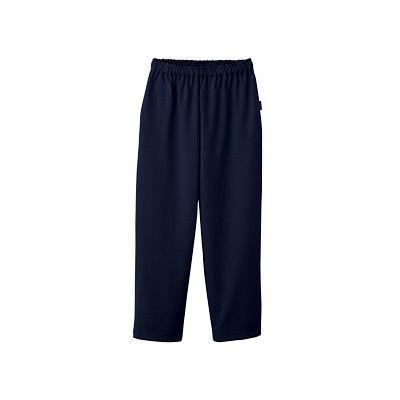 フォーク 検診衣パンツ (検査着 患者衣) 男女兼用 ネイビー L 6004SK (直送品)