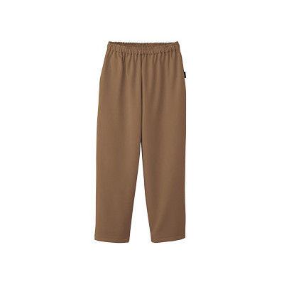 フォーク 検診衣パンツ (検査着 患者衣) 男女兼用 モカ LL 6004SK (直送品)