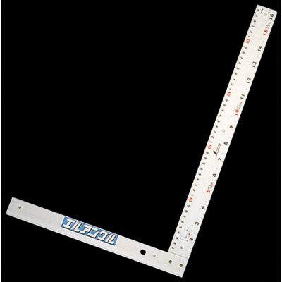 シンワ測定 丸ノコガイド定規 エルアングル 50cm 併用目盛 取手なし 77858 1セット(2個) (直送品)