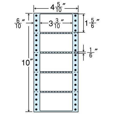 東洋印刷 タックフォームラベル(剥離紙ブルー) NC04RB 1箱=1000折(500×2袋) (直送品)