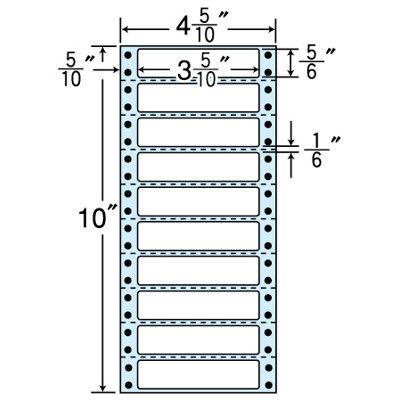 東洋印刷 タックフォームラベル(剥離紙ブルー) NC04TB 1箱=1000折(500×2袋) (直送品)