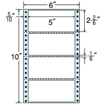 東洋印刷 タックフォームラベル(剥離紙ブルー) NC06GB 1箱=1000折(500×2袋) (直送品)