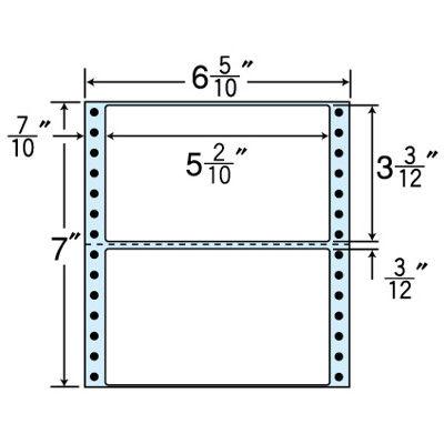 東洋印刷 タックフォームラベル(剥離紙ブルー) NC06HB 1箱=1000折(500×2袋) (直送品)