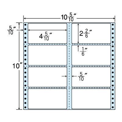 東洋印刷 タックフォームラベル(剥離紙ブルー) NC10CB 1箱=500折(500×1袋) (直送品)