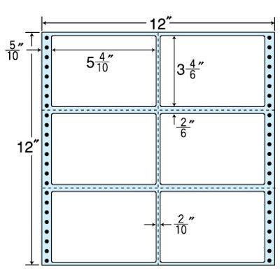 東洋印刷 タックフォームラベル(剥離紙ブルー) NC12YB 1箱=500折(500×1袋) (直送品)