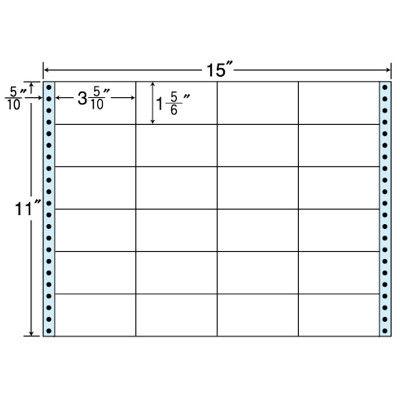 東洋印刷 タックフォームラベル(剥離紙ブルー) NC15GB 1箱=500折(500×1袋) (直送品)