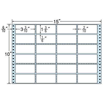東洋印刷 タックフォームラベル(剥離紙ブルー) NC15JB 1箱=500折(500×1袋) (直送品)