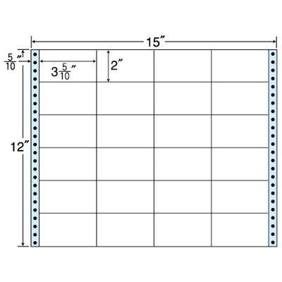 東洋印刷 タックフォームラベル(剥離紙ブルー) NC15WB 1箱=500折(500×1袋) (直送品)