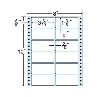 東洋印刷 タックフォームラベル(剥離紙ブルー) NT08CB 1箱=500折(500×1袋) (直送品)