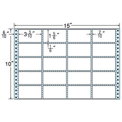 東洋印刷 タックフォームラベル(剥離紙ブルー) NT15HB 1箱=500折(500×1袋) (直送品)
