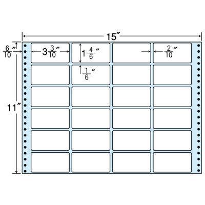 東洋印刷 タックフォームラベル(剥離紙ブルー) NT15TB 1箱=500折(500×1袋) (直送品)