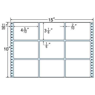 東洋印刷 タックフォームラベル(剥離紙ブルー) NT15YB 1箱=500折(500×1袋) (直送品)