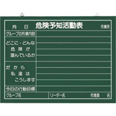 つくし工房 木製黒板 危険予知活動表 450mmX600mm 148-B (直送品)