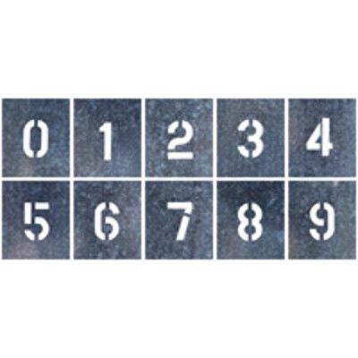 つくし工房 吹付プレート 小サイズ 「数字(0~9)」 J-91A 10枚組 (直送品)