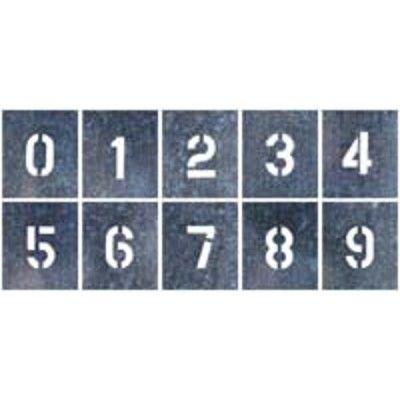つくし工房 吹付プレート 中サイズ 「数字(0~9)」 J-91B 10枚組 (直送品)