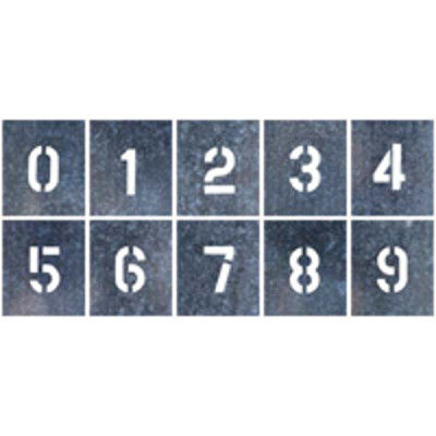 つくし工房 吹付プレート 特大サイズ 「数字(0~9)」 J-91D 10枚組 (直送品)
