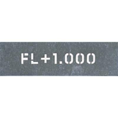 つくし工房 吹付プレート 「FL+1.000」 J-95 (直送品)
