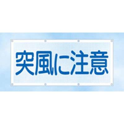 つくし工房 スカイメッシュ 「突風に注意」 SY-10 (直送品)