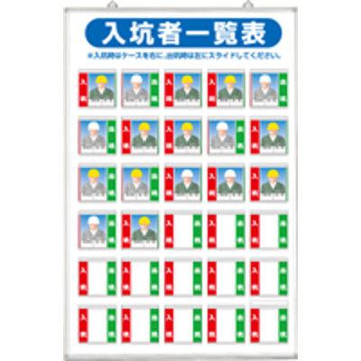 つくし工房 標識 入坑者一覧表(写真ケース式 基本型) 30人用 壁掛け型 134-A (直送品)
