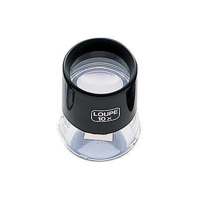 ルーペ T-2 高倍率 スケール付 28mm 10倍 75571 1セット(5個) シンワ測定 (直送品)