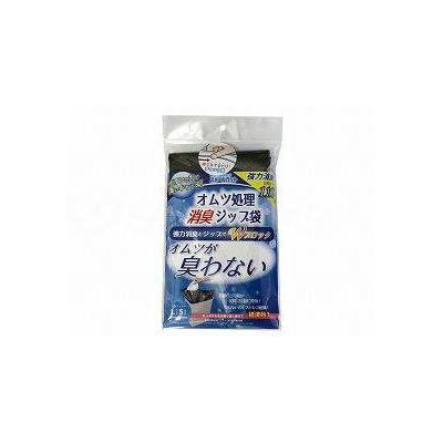 丸万 オムツ処理消臭ジップ袋 スメールカット(L-5) 袋 L 4547168005813(直送品)