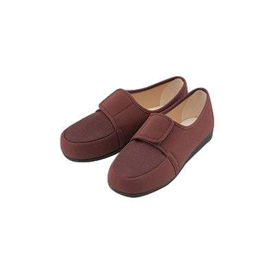 マリアンヌ製靴 リハビリシューズ チャ 21 W603チリメン(直送品)