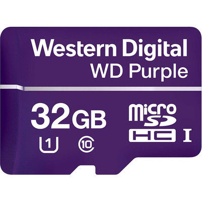 WESTERN DIGITAL WD Purple Micro SDカード 32GB WDD032G1P0A(直送品)