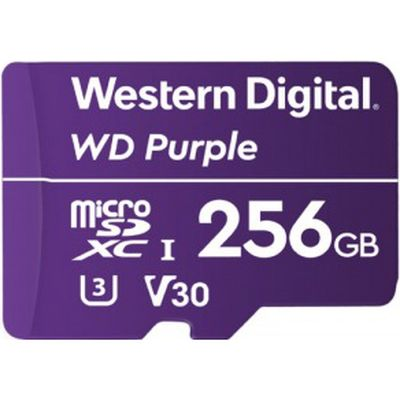 WESTERN DIGITAL WD Purple Micro SDカード 256GB WDD256G1P0A(直送品)