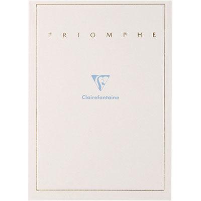 便箋 クレールフォンテーヌ トリオンフ レターパッドA5 無地 1セット(4冊) (直送品)