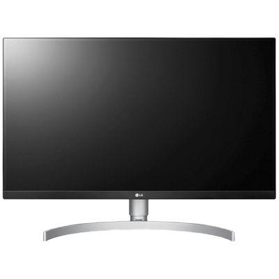 LG 27インチ4K液晶モニター(HDR/フレームレス/IPS/USB-C/ブルーライト低減/フリッカーセーフ) 27UK850-W 1台 (直送品)